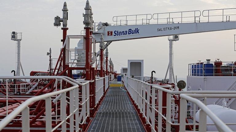 Stena Bulk i iranska Bandar Abbas hamn, den 21 juli 2019.