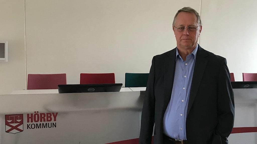 Sverigedemokraternas Stefan Borg i Hörby kommun. Foto: Odd Clausen/Sveriges Radio