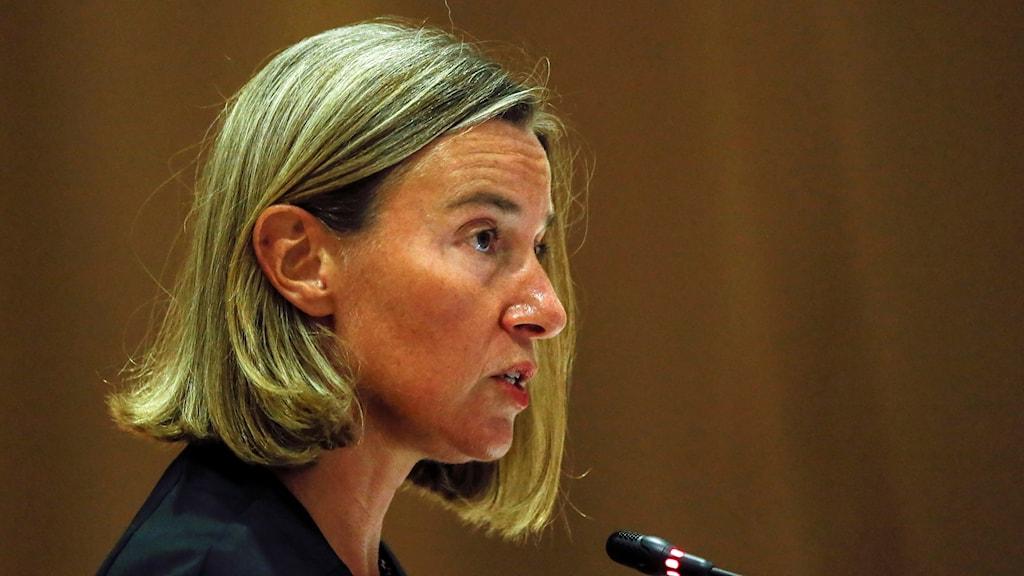 EU:s utrikeschef Federica Mogherini.
