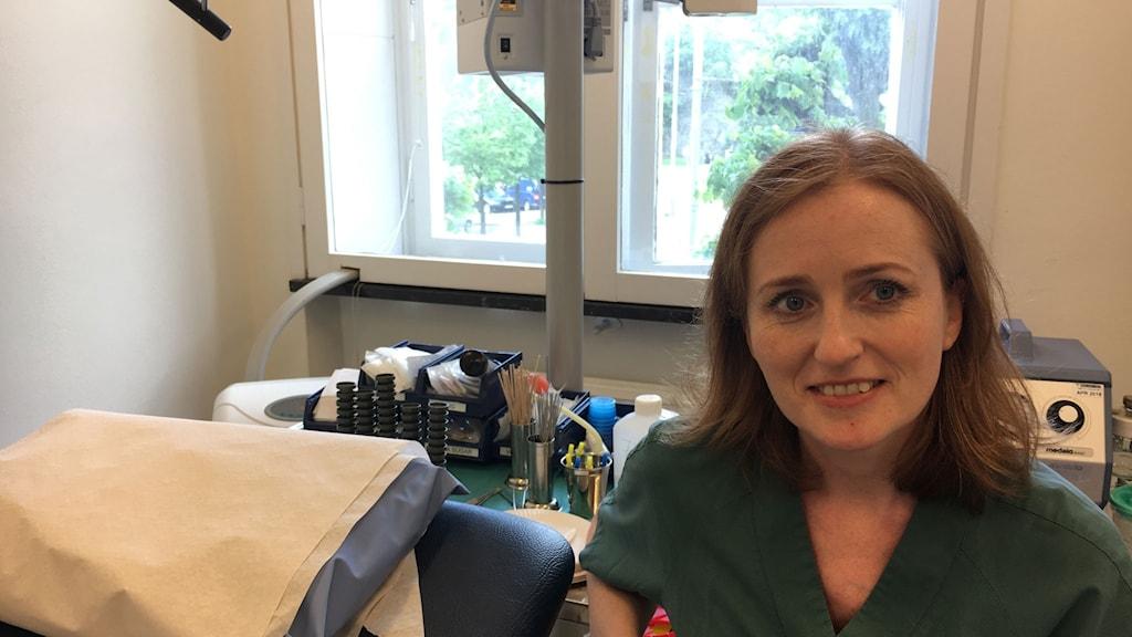 Gunnhildur Gudnadottir, överläkare på Sahlgrenska universitetssjukhuset i Göteborg.