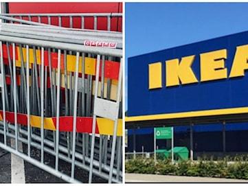 Ikea stoppade kunder med kravallstaket