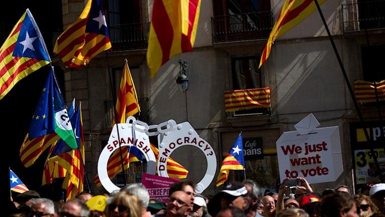Demonstration i Barcelona.