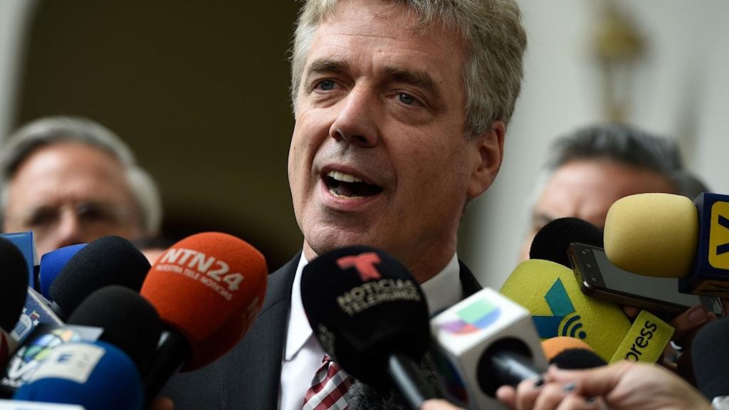 Tysklands ambassadör Daniel Kriener tvingas lämna Venezuela.