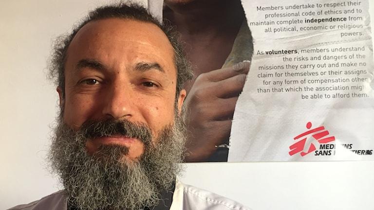 Psykologen Greg Karnavos arbetar för frivilligorganisationen Läkare utan Gränser.