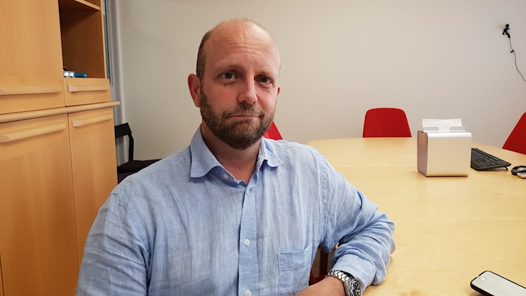 Henrik Olin, åklagare vid Riksenheten för säkerhetsmål Foto: Randi Mossige-Norheim/SR