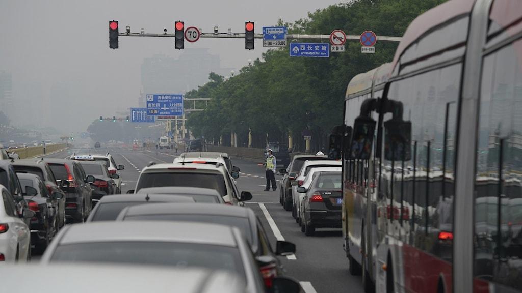 Bilköer i Kina.