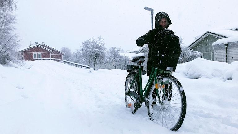 Snöoväder Bollnäs