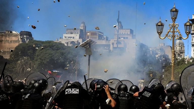 Protester i Argentina.