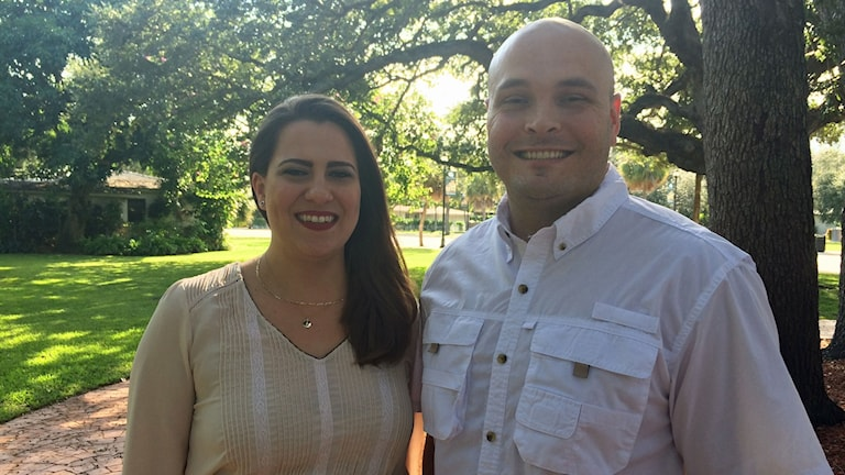 Jessica Fernandez och Armando Ibarra från Miami Young Republicans.