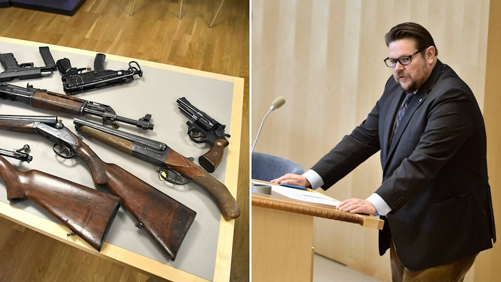 vapen och centerpartiets rättspolitiske talesperson Johan Hedin.