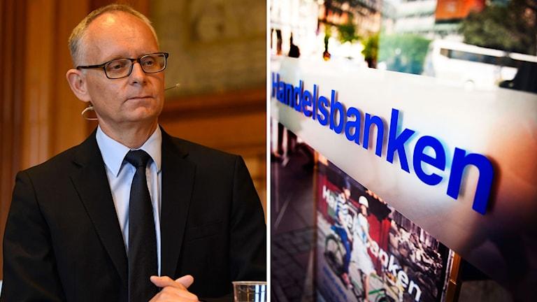 Anders Bouvin och Handelsbanken logga