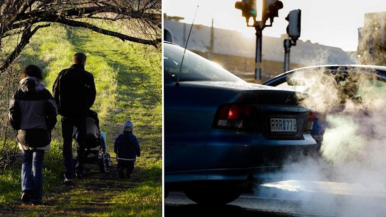 Tio barnfamiljer testade att leva utan bil