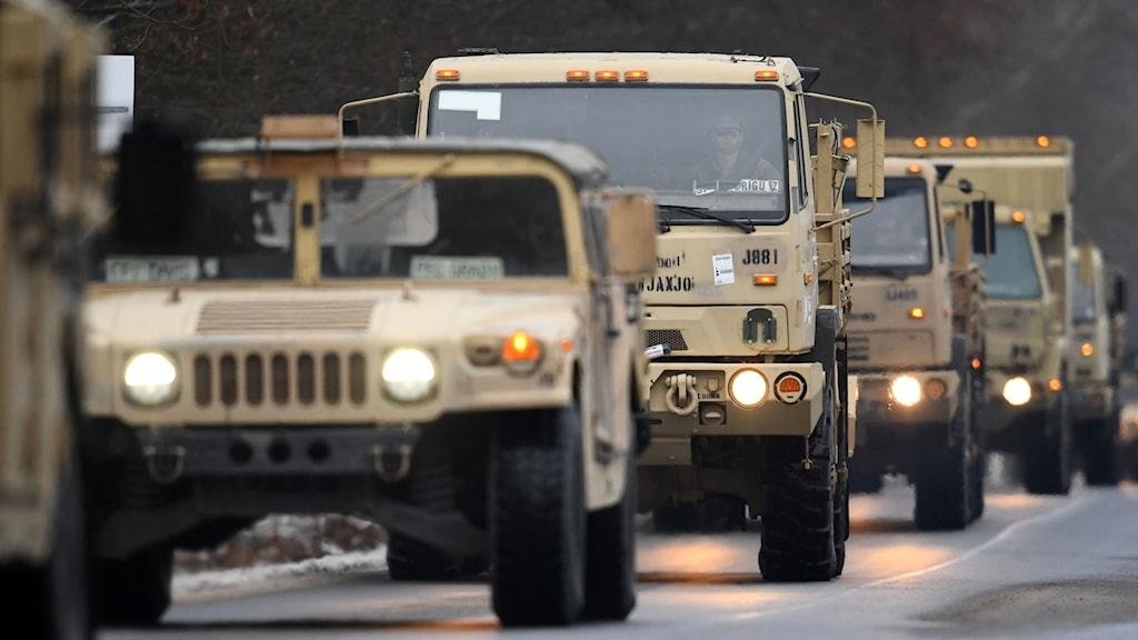 Amerikanska Nato-trupper anländer till Polen.