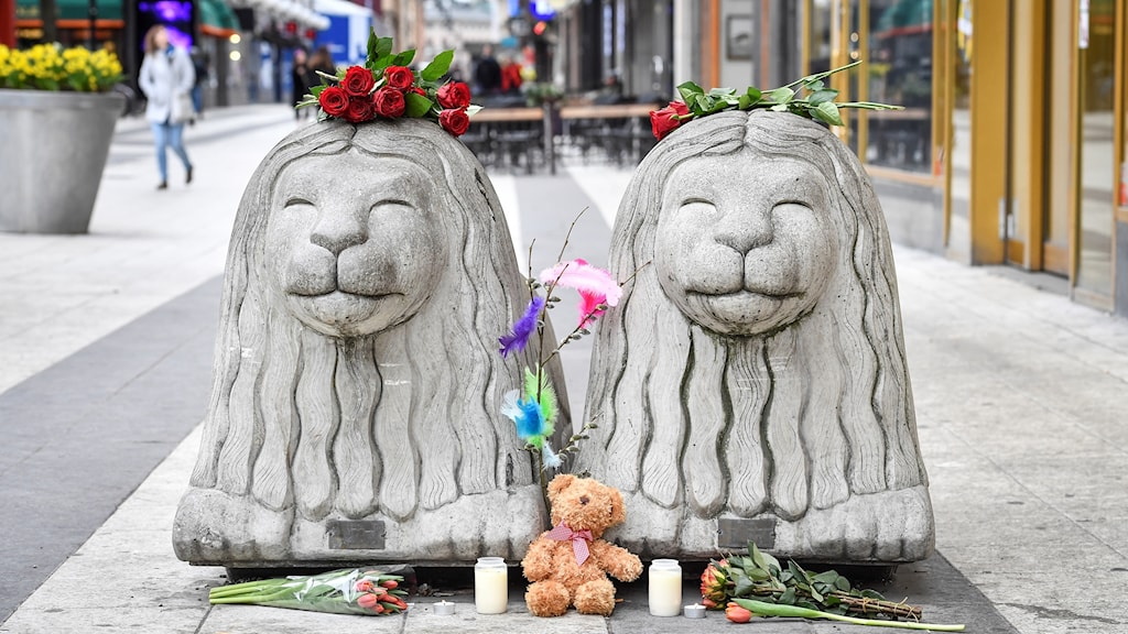 The stone lions on Drottninggatan are there to stop vehicles driving there.