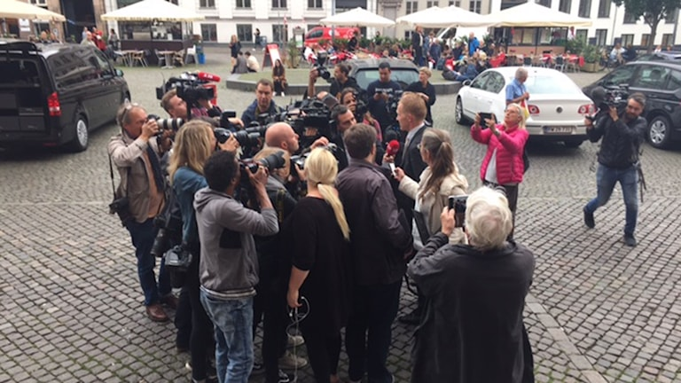 Stort medialt intressse föör fallet i Köpenhamn