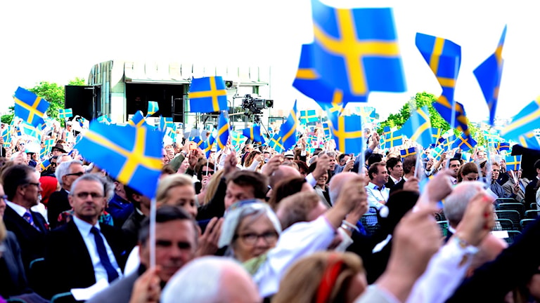 Nationaldagsfirande på Skansen.