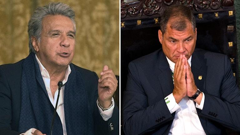 Ecuadors president Lenin Moreno och expresidenten Rafael Correa