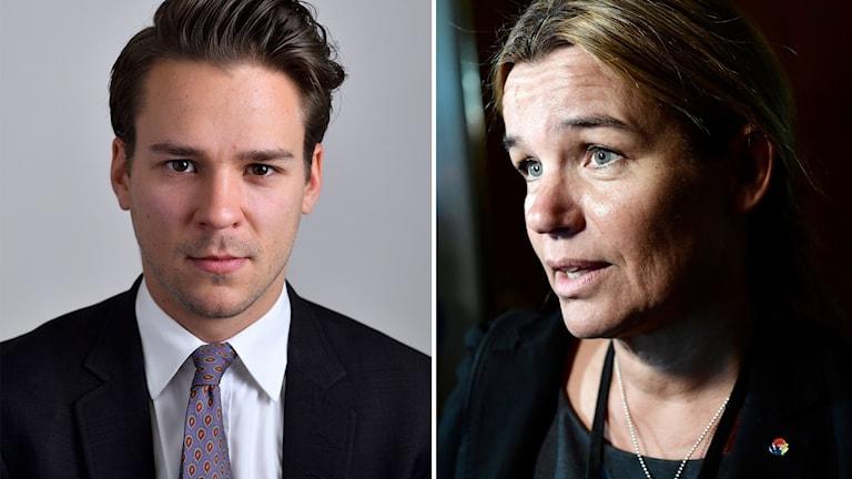 Lorentz Tovatt (MP) och Anna-Caren Sätherberg (S).