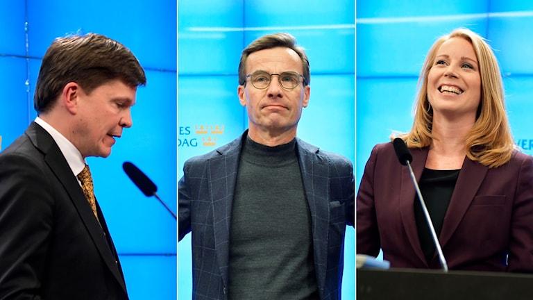 Andreas Norlén, Ulf Kristersson och Annie Lööf