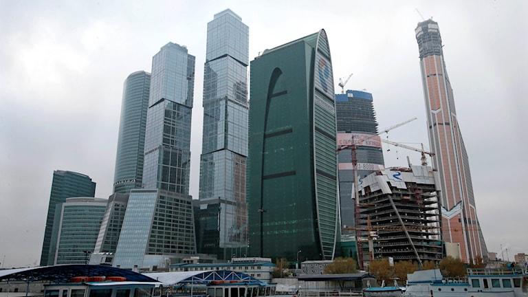 Skyskrapor i Moskva.