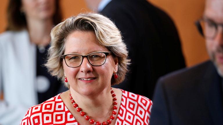 Tysklands miljöminister Svenja Schulze.
