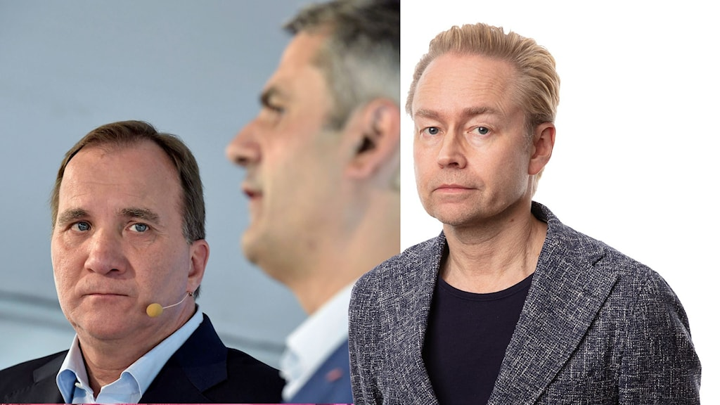 Stefan Löfven, Ibrahim Baylan och Fredrik Furtebach.