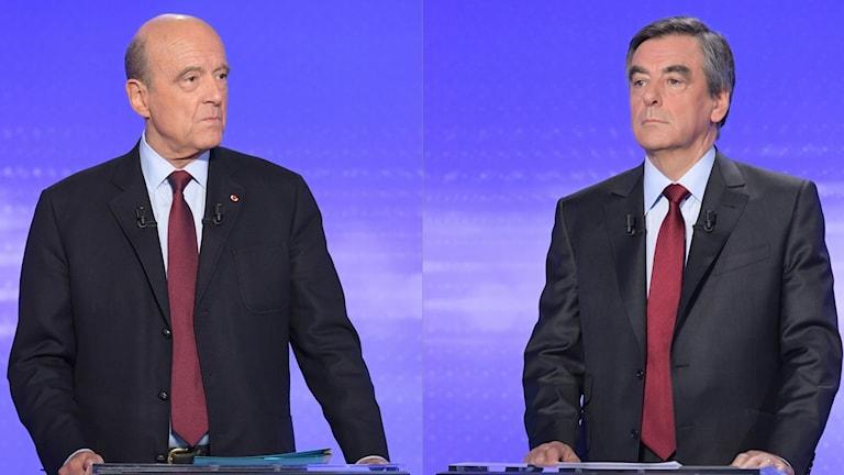 Alain Juppé och Francois Fillon möts i en avgörande avgång på söndag