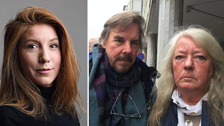 Bilden visar Joachim och Ingrid Wall, föräldrar till Kim Wall. De står på en gata i Malmö. Foto: Anna Bubenko/Sveriges Radio.