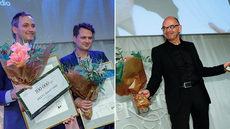 SR journalisterna Daniel Velasco, Robert Barkman och Mats Nileskär