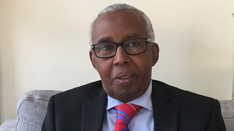Khalif Bile Mohamud vid svensk-somaliska forskarföreningen.