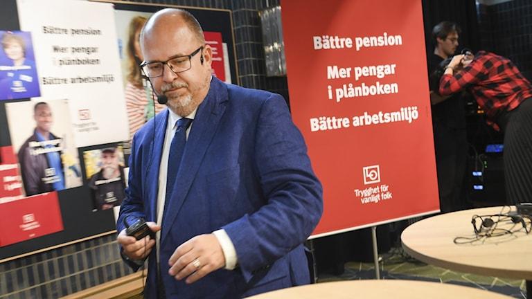 LO:s ordförande Karl Petter Thorwaldsson lämnar sin post i samband med sommarens kongress 2020.