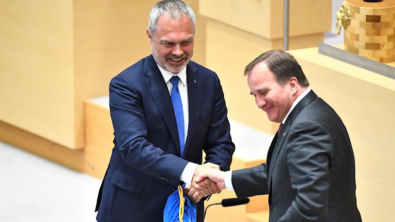 Jan Björklund och Stefan Löfven.