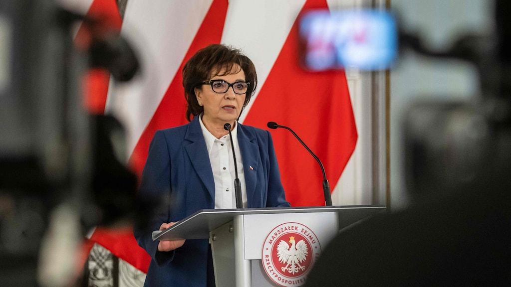 Underhuset talman Elżbieta Witek