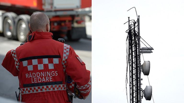 Fynd som gjorts under den pågående tekniska undersökningen av den kraschade radio- och tv-masten utanför Borås styrker misstankarna om sabotage. Foto: Adam Ihse och Janerik Henriksson / TT
