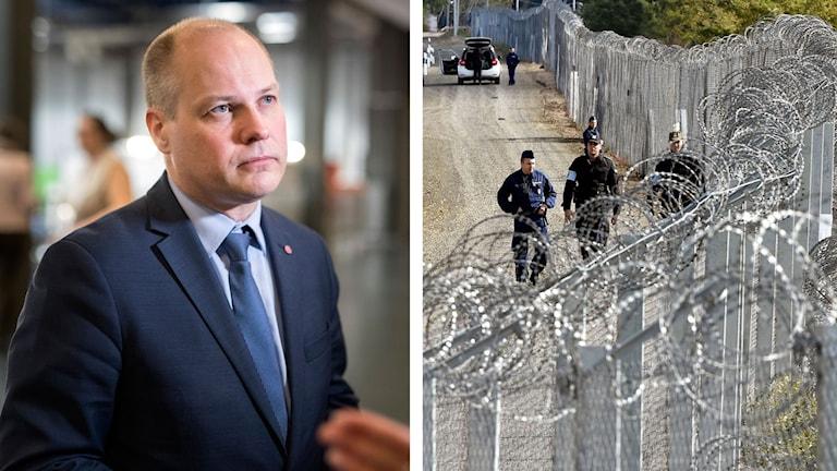Morgan JOhansson riktar stark kritik mot Ungern pga av flyktingpolitiken