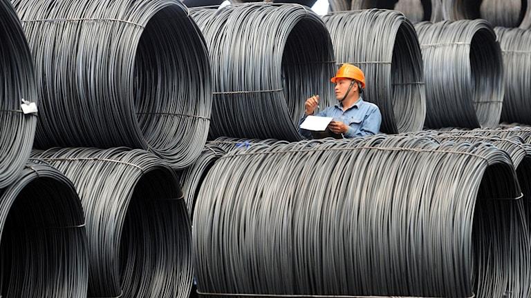 Stålindustri i den kinesiska provinsen Jiangsu