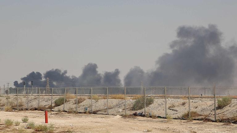 En av oljeanläggningarna som attackerades