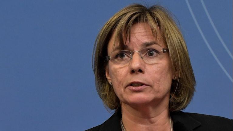 Isabella Lövin, minister för internationellt utvecklingssamarbete.