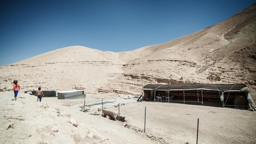 Förskolan som stod här en gång har rivits av israeliska myndigheter.