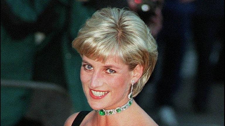 Lady Diana anländer till Tate Gallery i London i juli 1997.