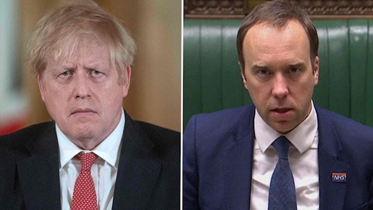 Boris Johnson och Matt Hancock.