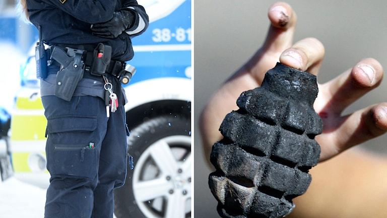 Polisen handgranat