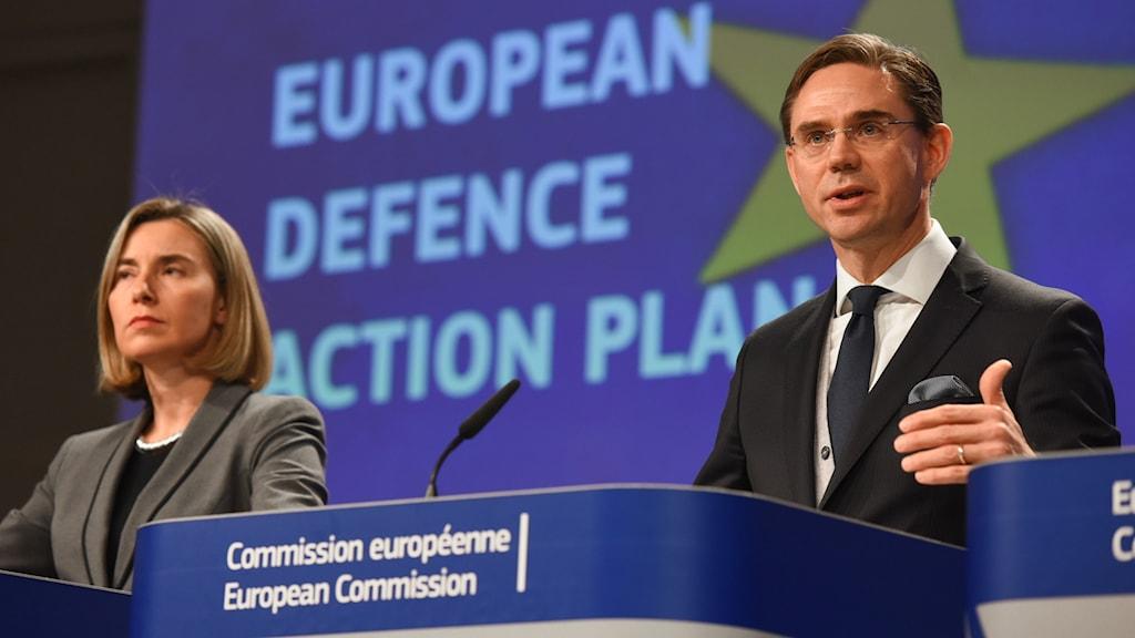 Federica Mogherini och Jyrki Katainen presenterade förslaget.