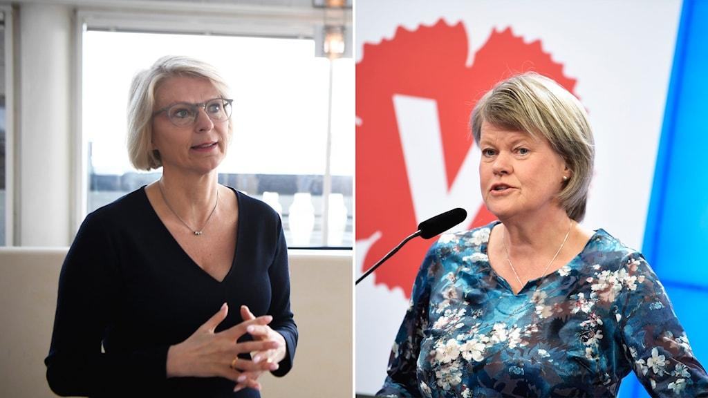 Montage med Elisabet Svantesson och Ulla Andersson.