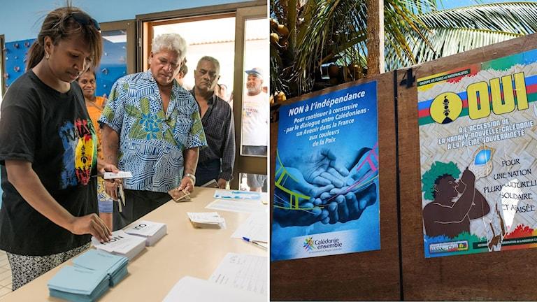 Nya Kaledonien röst självständighet