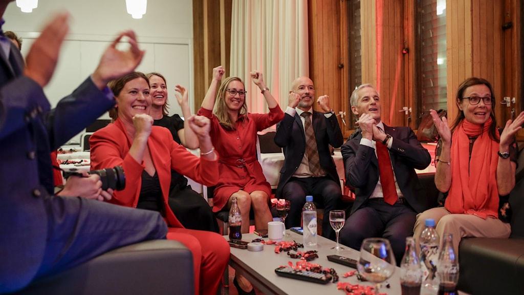 Valvaka för de Norska Arbeiderparti.