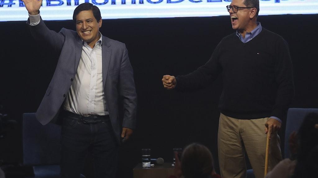 Vänsterkandidaten Andrés Arauz, Ecuador.