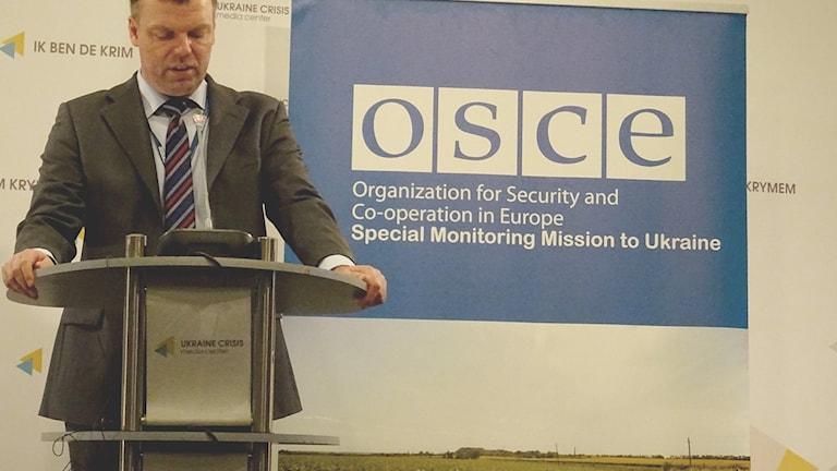 Alexander Hug, ledare för OSSE:s fredsmission i Ukraina.