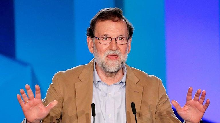 Spanske premiärministern Mariano Rajoy på besök i Katalonien.