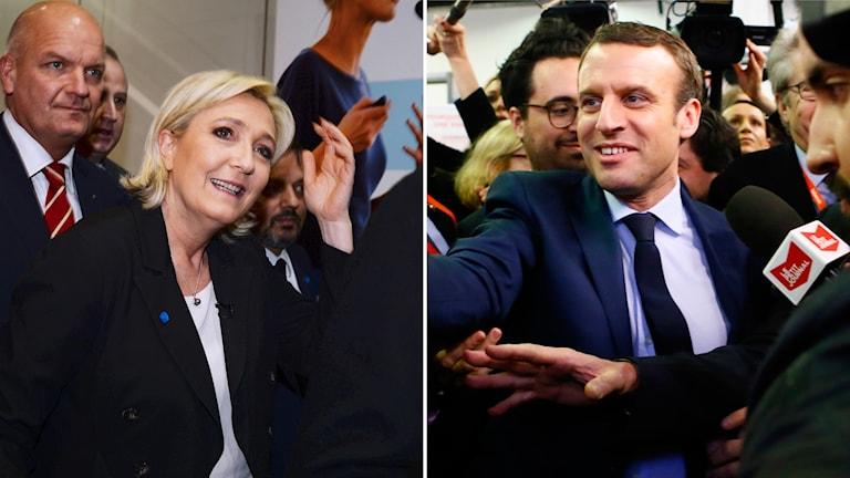 Idag håller Emmanuel Macron, ett valmöte i Lyon samtidigt som Nationella fronten på yttersta högerkanten håller en tvådagar